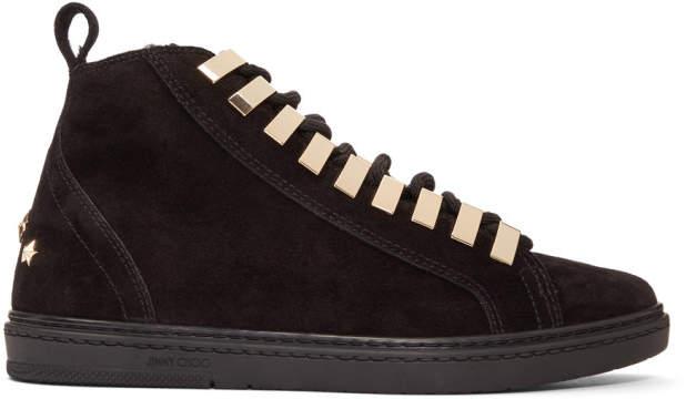 Jimmy Choo Black Suede Colt Sneakers