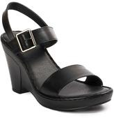 Pierre Dumas Black Jolie Wedge Sandal