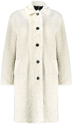 Paul Smith Faux-Shearling Single-Breasted Coat