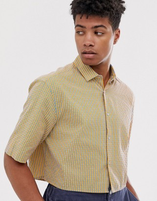 Asos DESIGN oversized boxy fluro grid check shirt