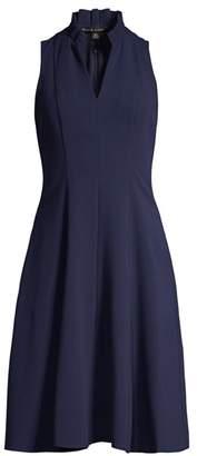 Black Halo Antoinette Collared Flare Dress