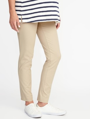 Old Navy Maternity Side-Panel Full-Length Pixie Pants