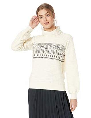 Lucky Brand Women's Fairisle Turtleneck Pullover Sweater