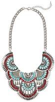 Cara Women's Crystal Chain Bib Necklace