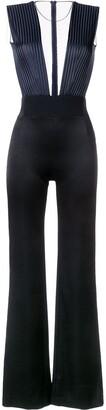 Galvan translucent top jumpsuit