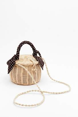 Nasty Gal Womens WANT Picnic By the Pool Basket Crossbody Bag - beige - One Size