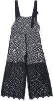 Ermanno Scervino Lace Jumpsuit W/ Bow Detail