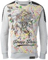 Philipp Plein printed sweatshirt - men - Cotton/Polyester/Polyurethane - L