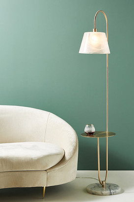 Anthropologie Mercy Marble Floor Lamp By in Gold Size L