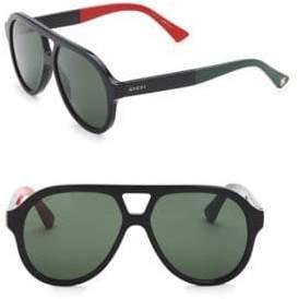 Gucci 56MM Aviator Sunglasses