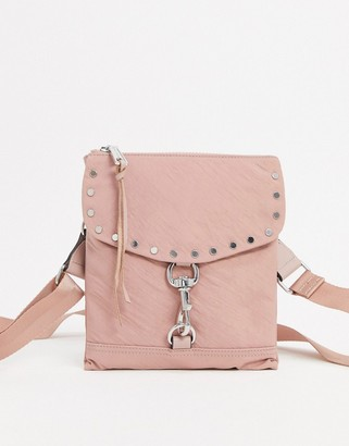 Rebecca Minkoff nylon flap cross-body bag in pink