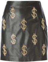 Moschino chain dollar sign mini skirt
