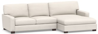 Pottery Barn Turner Square Arm Upholstered 2-Piece Double Chaise Sectional