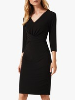 Phase Eight Selima Twist Jersey Dress, Black