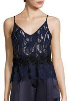 ABS by Allen Schwartz Applique Lace Camisole