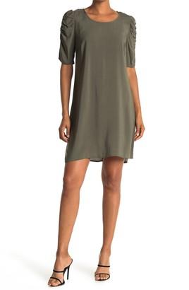 MSK Scoop Neck Puff Sleeve Mini Dress