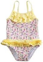 XUNYU Baby Girls Infant Toddler One Piece Swimsuits Floral Falbala Swimwear