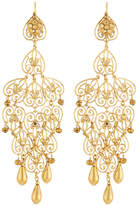 Jose & Maria Barrera 24k Gold-Plated Long Filigree Earrings