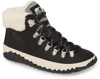 Sorel Out 'N About(TM) Conquest Waterproof Bootie with Faux Fur Trim