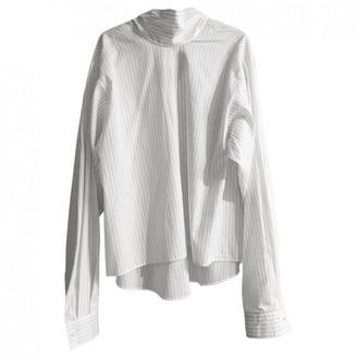 Maison Margiela White Cotton Leather jackets