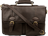 Hidesign Parker 02 Leather Briefcase, Brown