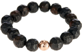 Luis Morais Rose-gold and ebony-bead bracelet