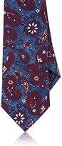 Isaia Men's Paisley Necktie-BLUE