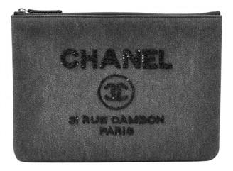Chanel Deauville Grey Denim - Jeans Clutch bags
