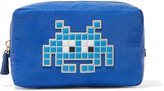 Anya Hindmarch Space Invader appliquéd shell cosmetics case