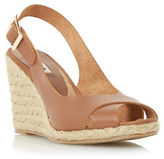 Dune London Kia Leather Espadrille Wedge Sandals