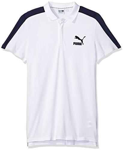 Puma Men's Archive T7 Polo, White, S