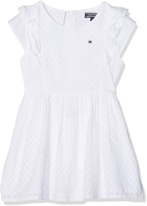 Tommy Hilfiger Girls' M Dobby Mix Dress S/S