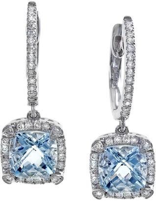 Effy 14K 1.96 Ct. Tw. Diamond & Aquamarine Earrings