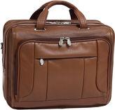 McKlein McKleinUSA River West 15.6 Leather Fly-Through Checkpoint-Friendly Laptop Briefcase