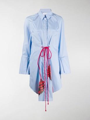 Thebe Magugu Long Drawstring Shirt Dress