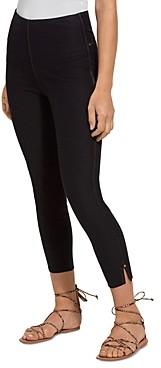 Lysse Side Slit Cropped Denim Leggings