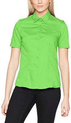 James & Nicholson Women's Ladies' Business Shirt Shortsleeve Blouse Lime-Green