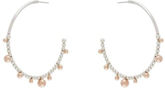 Dodo 9kt rose gold and silver large Bollicine hoop earrings