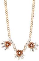 Betsey Johnson Glitter Rose Frontal Necklace