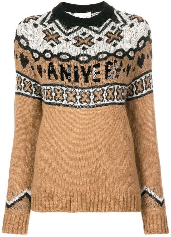 Aniye By logo knit sweater