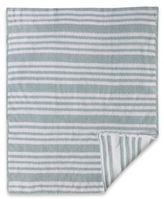 CoCalo Striped Chenille Knitted Blanket in Blue