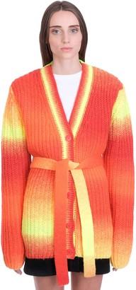 Golden Goose Cardigan In Orange Wool