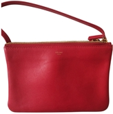 Celine Red Leather Handbag Trio