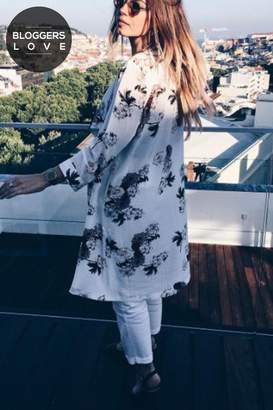 Girls On Film Outlet White Print Jacket