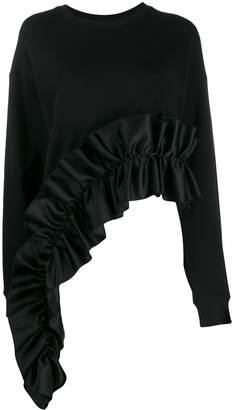 Christopher Kane asymmetric frill trim sweatshirt