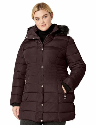 Big Chill Women's Faux Memory Puffer Coat