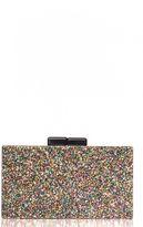 Quiz Multi Glitter Box Clutch Bag