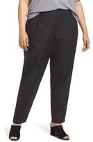 Eileen Fisher Plus Size Women's Organic Linen Slouchy Pants