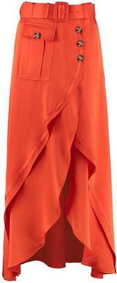 Self-Portrait Asymmetric Midi-skirt