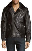 Karl Lagerfeld Full-Zip Moto Jacket
